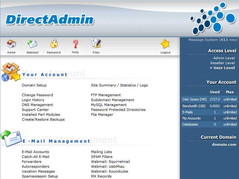 آموزش ساخت و مدیریت ایمیل در دایرکت ادمین